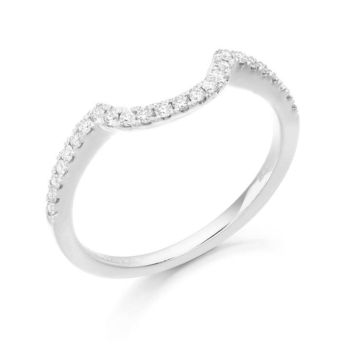 Horseshoe Shape Diamond Wedding Ring