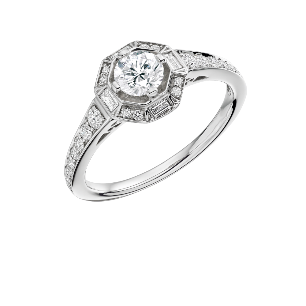 Vintage Art Deco Style Diamond Ring