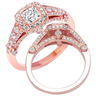 Rose Gold Diamond Ring Stunning Engagement Ring NIreland
